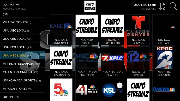As mentioned previously, Chapo Streamz provides over 8,000 live channels starting at $16/month with their standard plan.