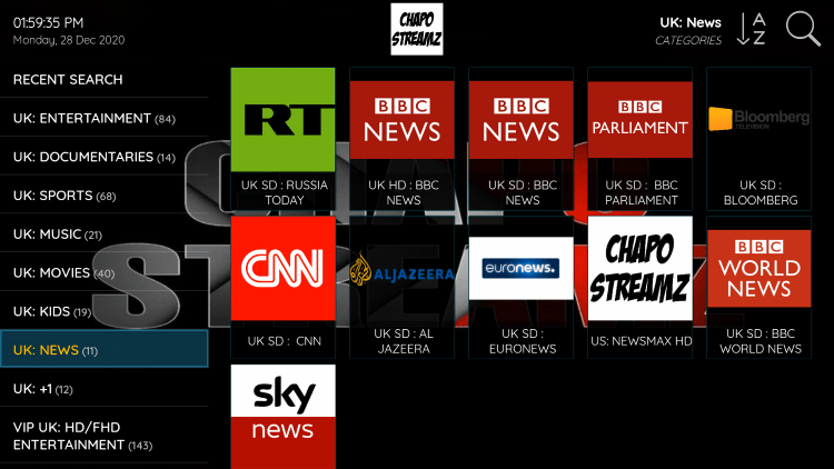 Every chapo streamz subscription plan comes with over 8,000 live channels in HD quality.