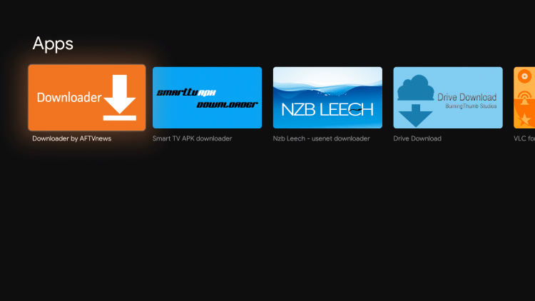 Select Downloader by AFTVnews under Apps.