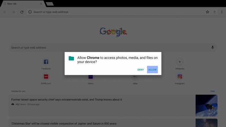 Click Allow.