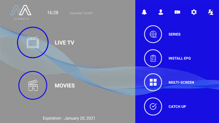 sportz tv main menu
