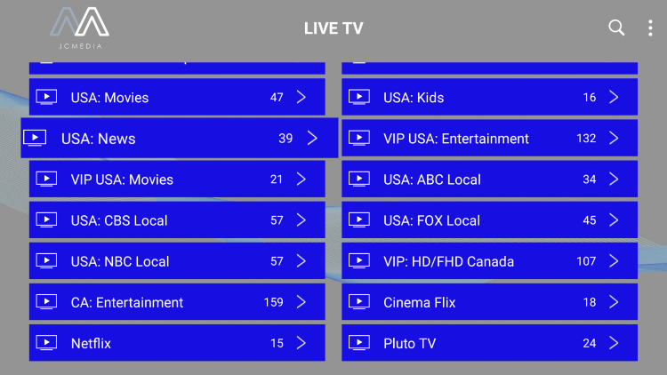 Every subscription plan comes with over 6,000 live channels in HD quality.