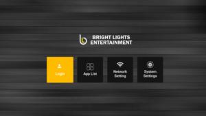 bright lights entertainment iptv main menu