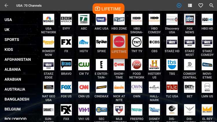 One of the best features within FreeFlix HQ APK is the ability to add channels to Favorites.