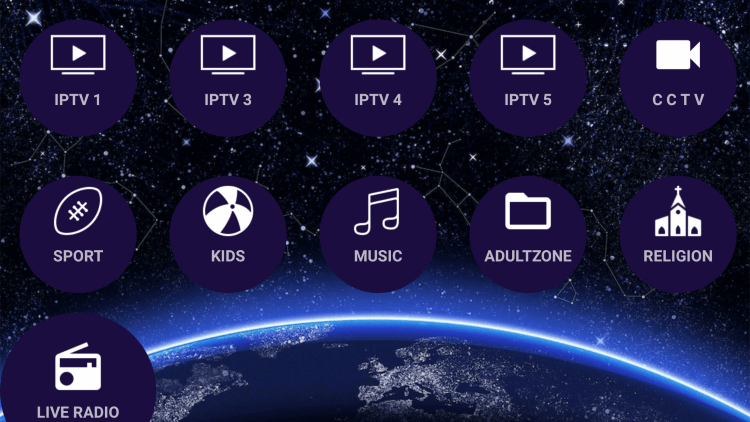 There are also several settings configurations within this free IPTV app.