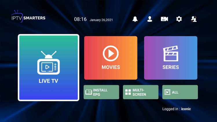 That's it! You have installed Iconic Streams IPTV on your device.