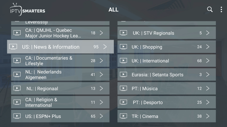 Every subscription plan comes with over 3,500 live channels and VOD options.