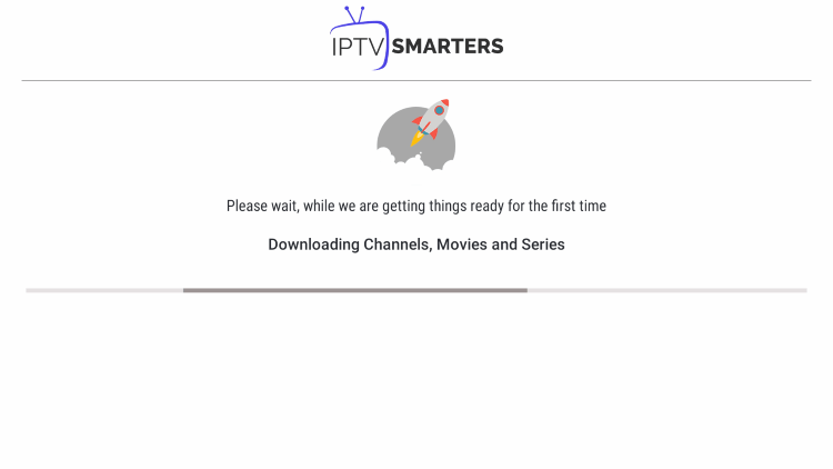 Wait a few seconds for IPTV Smarters Pro to download your service's channels, movies, EPG, and more.