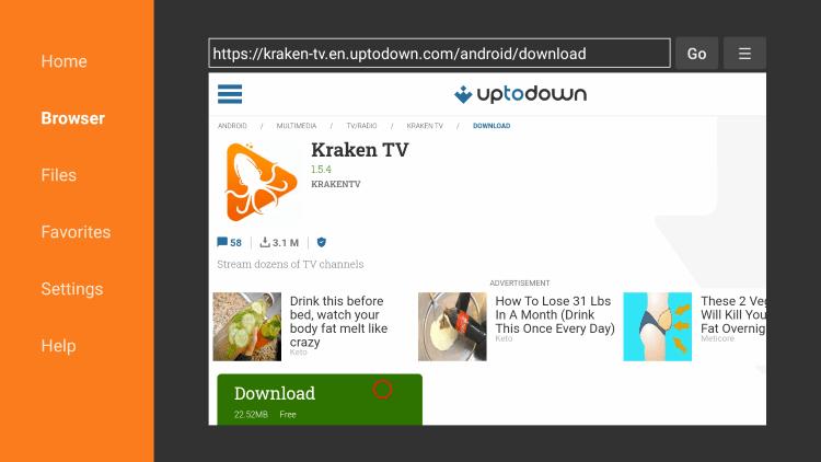 Click Download kraken tv