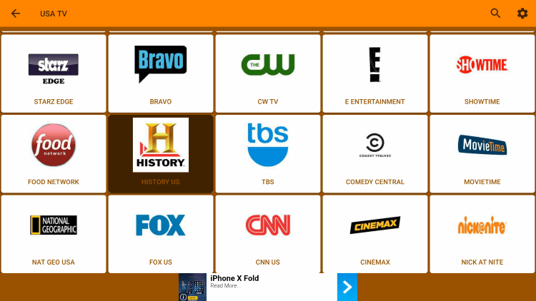 One of the best features within Kraken TV APK is the ability to add channels to Favorites.
