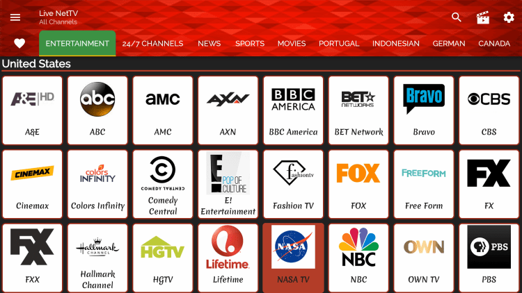 One of the best features within the Live Net TV app is the ability to add channels to Favorites.