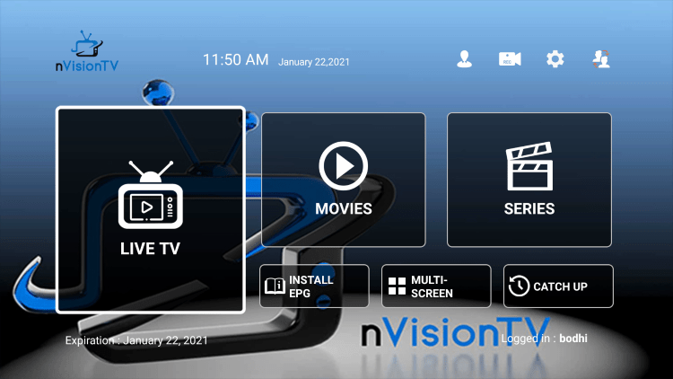 That's it! You have installed Nvision TV IPTV on your device.