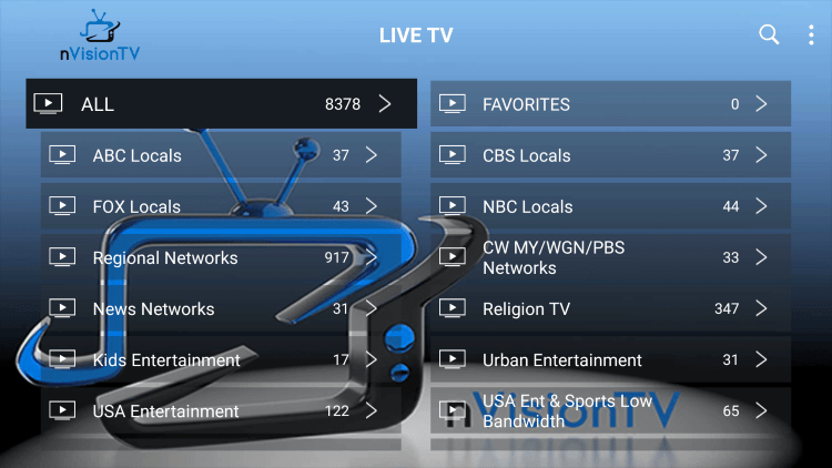 Nvision TV IPTV provides over 2,000 live channels starting at $10/month with their standard plan.