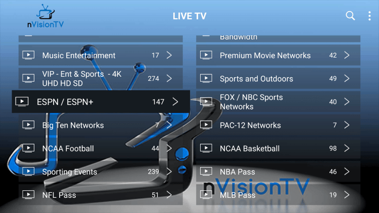 Every nvision iptv subscription comes with over 2,000 live channels and VOD options.