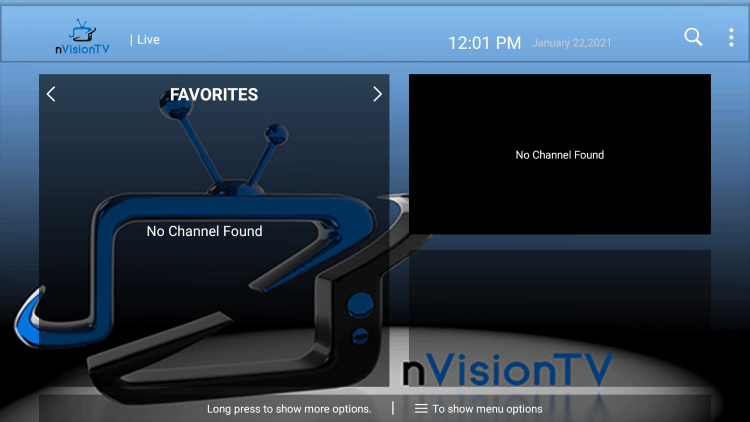 You can now add/remove channels from Favorites within nvision tv iptv
