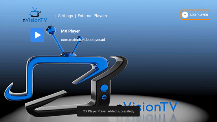 That's it! You have successfully integrated an external video player in nvision tv iptv