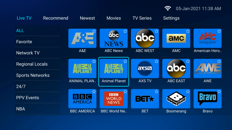 Locate your preferred channel and hold down the OK button.
