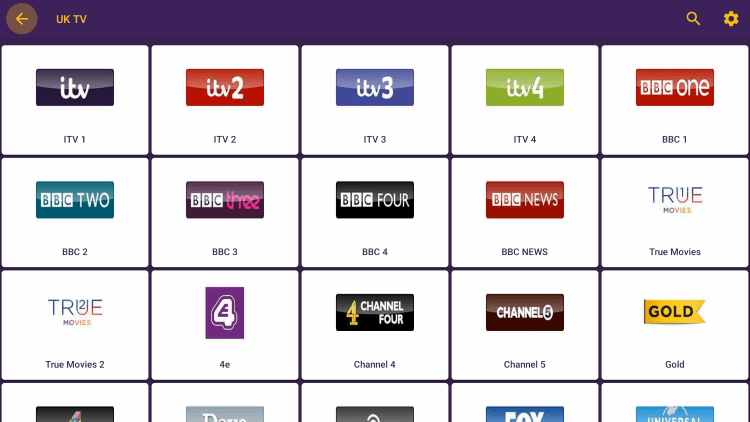 This app contains thousands of live channels and VOD options in numerous categories.
