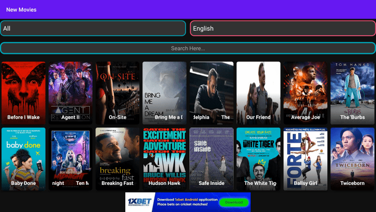 There are also plenty of VOD options within thop tv