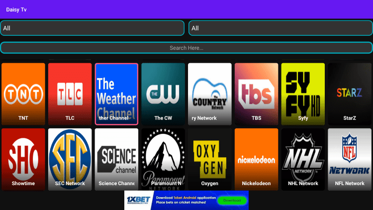 In the example below, we show how to integrate an external player within Thop TV.