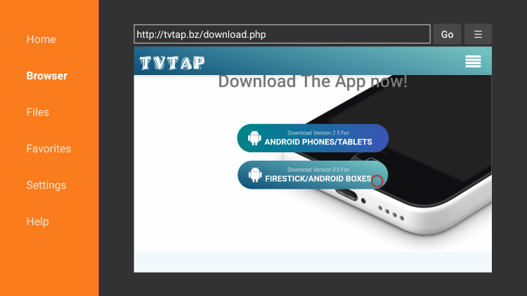 Scroll down and click Download for Firestick/Android Boxes.