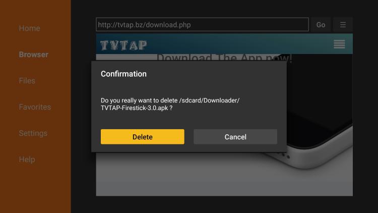 Click Delete again.