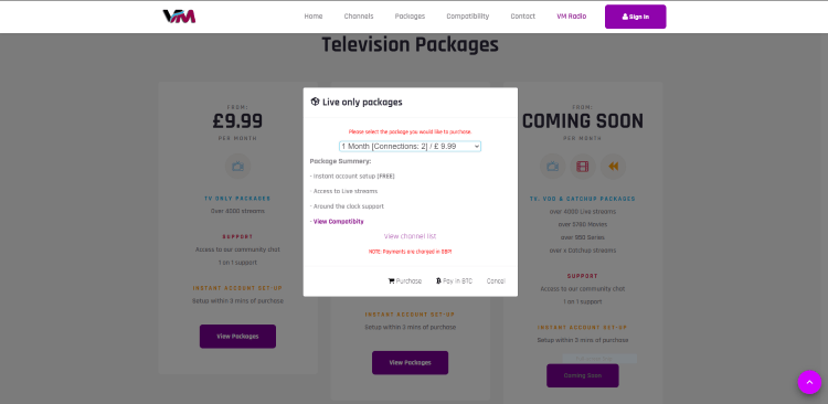 That's it! You have successfully registered for a Vue Media IPTV account.