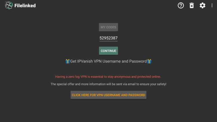 For Vue Media IPTV their Filelinked code is 52952387