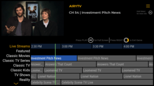 airy tv channels