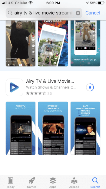 Wait a few seconds for the app to install.