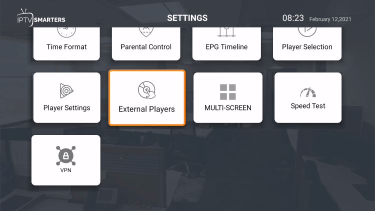 Select External Players.