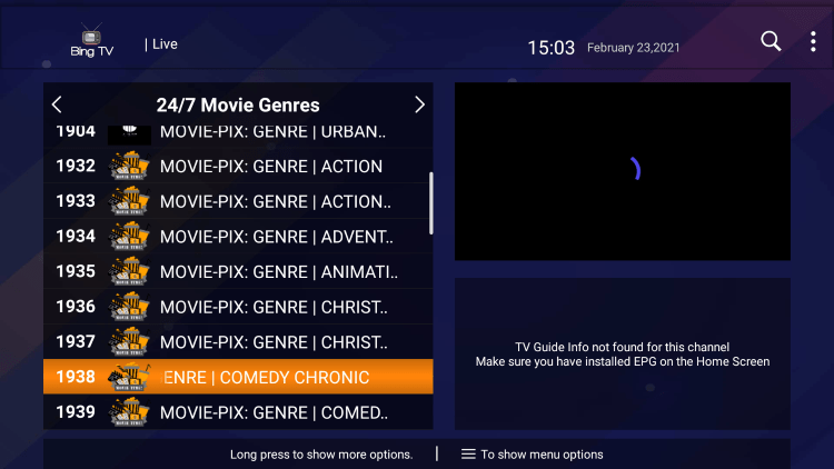 One of the best features of the Bing TV IPTV service is the ability to add channels to Favorites.