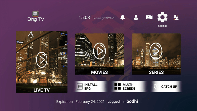In the example below, we show how to integrate an external player within Bing TV.