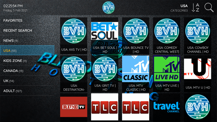 Every subscription plan comes with over 4,000 live channels and VOD options.