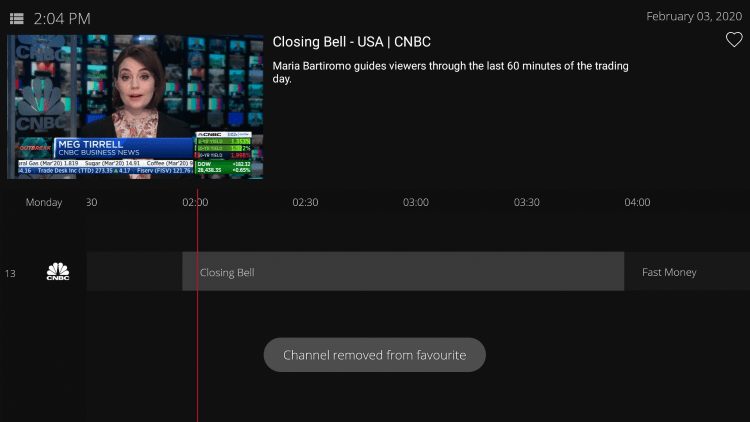 That's it! You can now add/remove channels from Favorites within dark media iptv