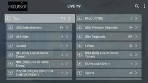 excursion tv channels