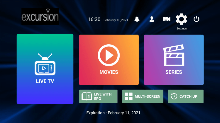 In the example below, we show how to integrate an external player within Excursion TV.