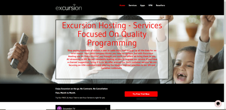 Prior to using the Excursion TV IPTV service, you will need to register for an account on their official website.