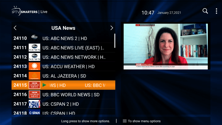 Follow the steps below on how to add channels to Favorites within the iptv gang service