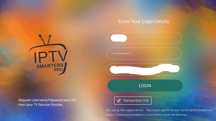 Enter your IPTV on roku login credentials and click Login.