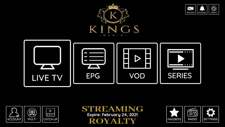 That's it! You have installed KingsMedia IPTV on your device.