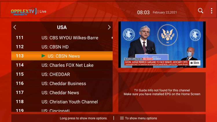 One of the best features of the OpplexTV IPTV service is the ability to add channels to Favorites.