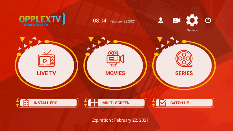 In the example below, we show how to integrate an external player within OpplexTV IPTV.