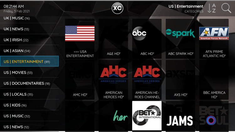 Phantom IPTV provides over 2,800 live channels starting for under $13/month with their standard plan.