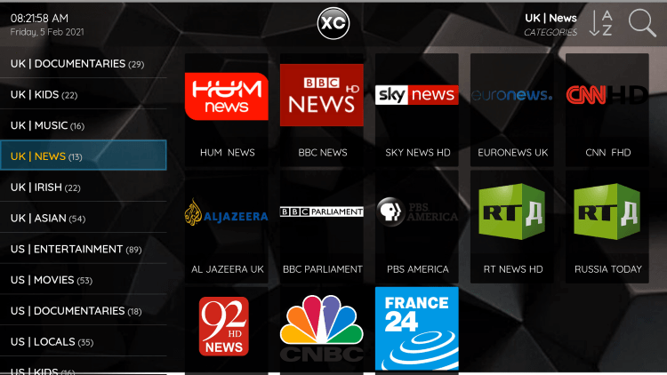 Every subscription plan comes with over 2,800 live channels and VOD options.