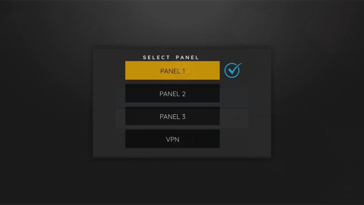 Select Panel 1.