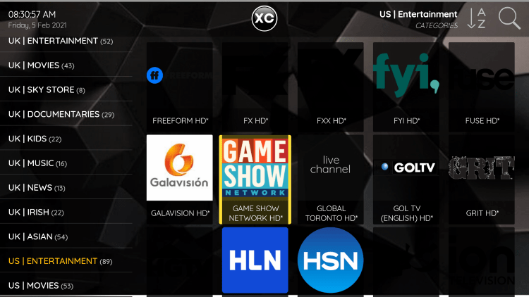 One of the best features within the Phantom IPTV service is the ability to add channels to Favorites.