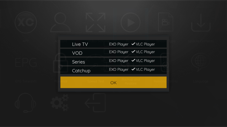 That's it! You can now integrate external video players within phantom iptv