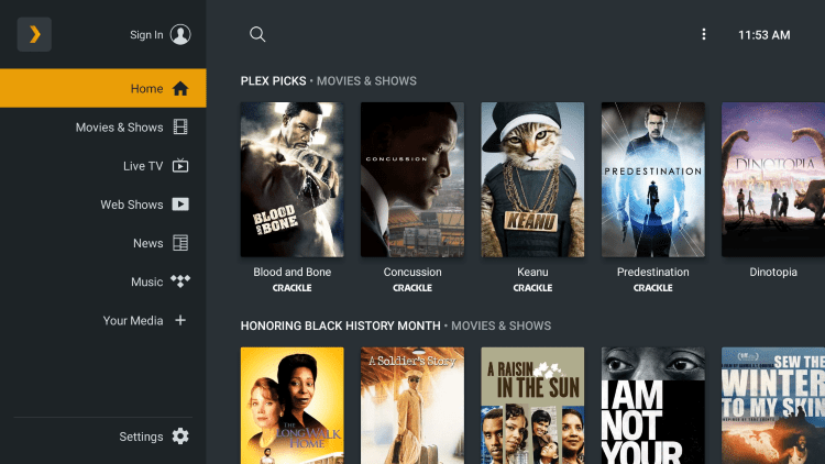 That's it! You have installed Plex Live TV on your Firestick/Fire TV.