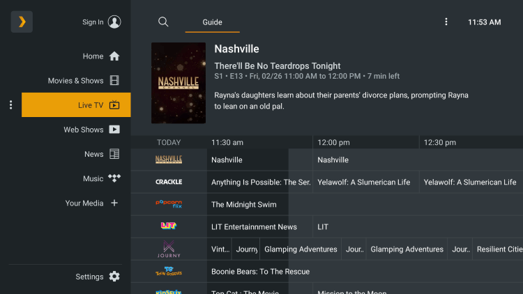 Enjoy the 80+ live channels this free plex live tv app has to offer!